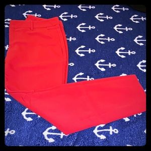 Express Columnist pants Sz 4R Red